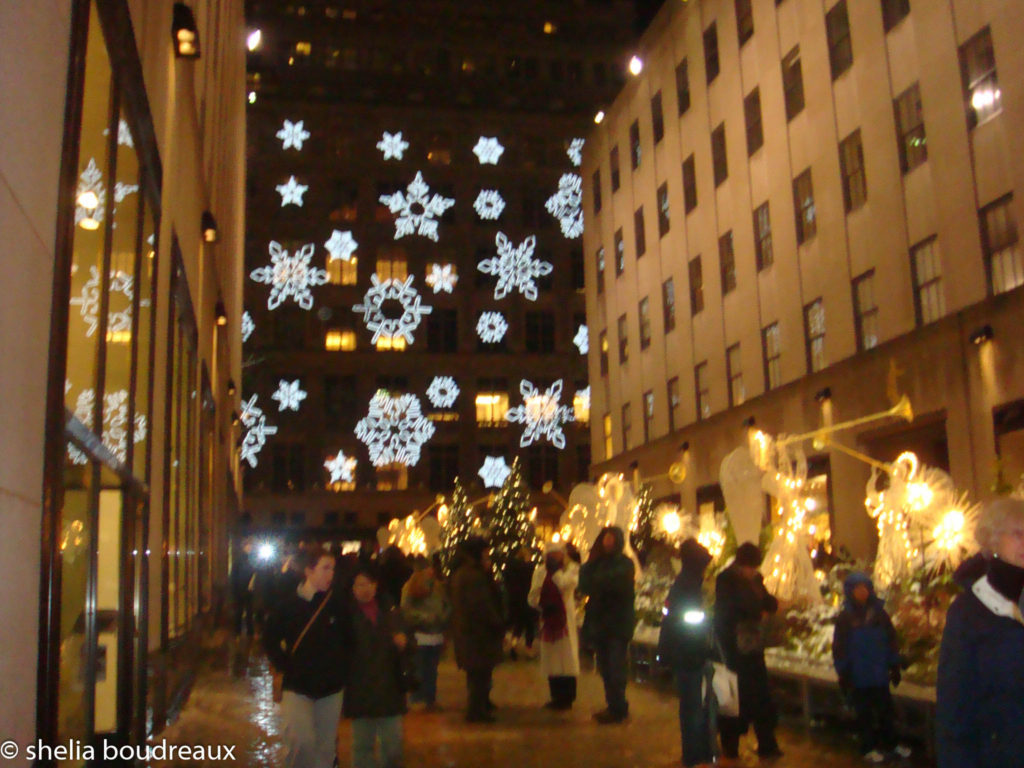Saks lights NYC Christmas