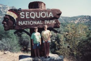 Travel My brother and me at Sequoia National Park