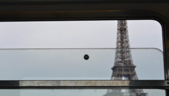 View from the window for the Eiffel Tower Paris