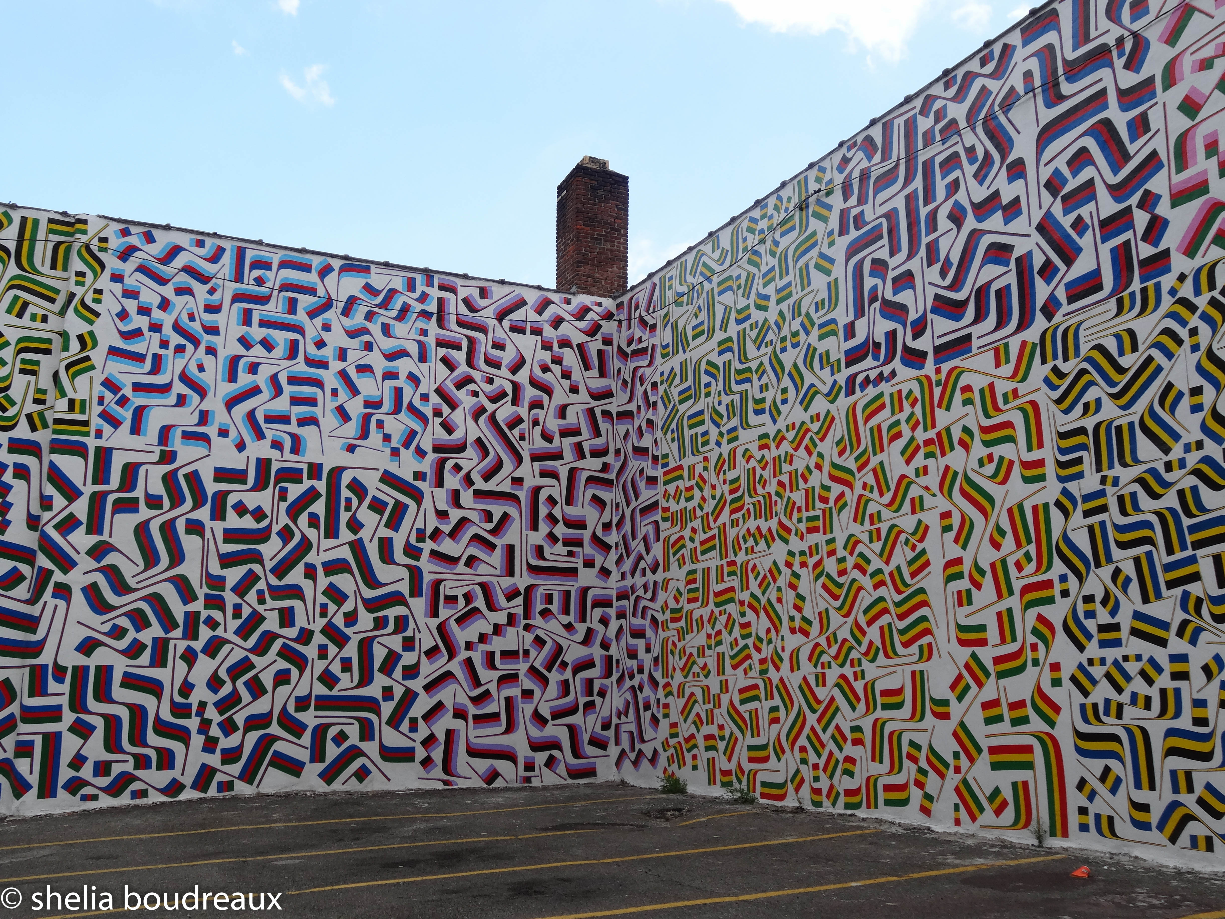 Isaac Lin's new mural on Arch Street