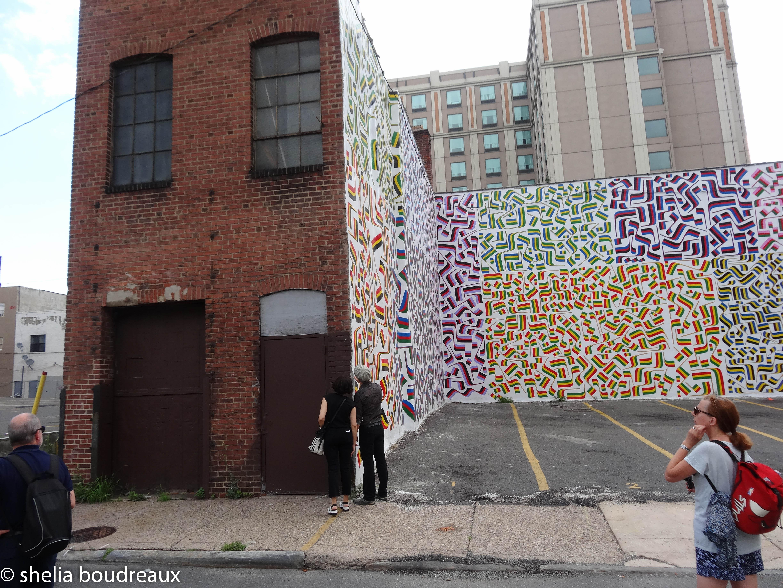 Isaac Lin's new mural on Arch Street Philadelphia Mural Tour