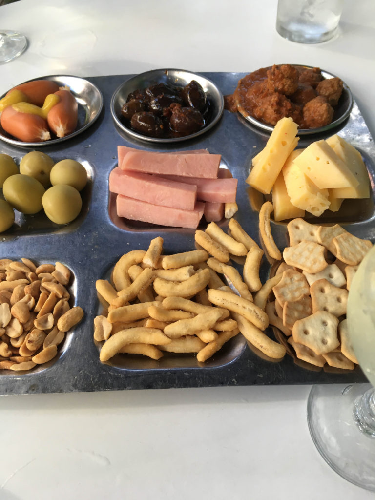 South American Snack Plate - Those olives were delish!!